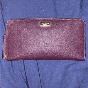 Kate Spade Large purple wallet